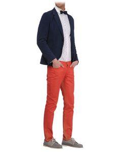 Bold pants with neutral top?  Fancy - Men - Denim - Denim pants on thecorner.com