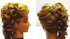 Свадебная прическа на средние и длинные волосы.Прическа на выпускной. Wedding and prom hairstyle - YouTube