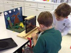 Fabriquer une scène pour faire du Stop Motion avec ses enfants, idée géniale! My Learning Journey: Dinosaurs Come to Life With iStopMotion
