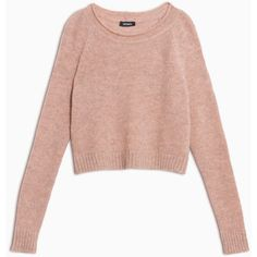 Max&Co. Alpaca-blend jumper ($115) ❤ liked on Polyvore featuring tops, sweaters, powder pink, pink top, pink jumper, jumper top, form fitting sweaters and long tops