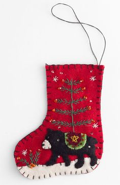 New Worlds Arts 'Bear' Stocking Ornament available at #Nordstrom