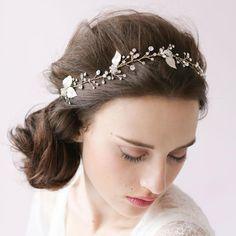 Bridal Accessories hair, Wedding Hair Accessories, Silver Leaf Wedding Hair Accessories, bridemaid headband