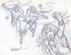 Wonder Woman prelim sketches by Jose Luis Garcia-Lopez Comic Art