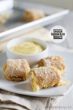 Chicken Cordon Bleu Nuggets on Taste and Tell