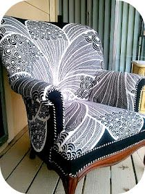 chair reupholstery project