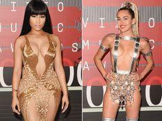 "VIDEO! Scandal la MTV VMA! Nicky Minaj a ""injurat-o"" pe Miley Cyrus"