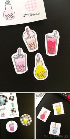 Bubble tea sticker for everyone! As you probably know, I am super obsessed with bubble tea / boba tea. Bubble Tea Shop, Bubble Milk Tea, Bullet Journal Font, Bullet Journal Ideas Pages, Food Stickers, Printable Planner Stickers, Tea Wallpaper, Bubble Drawing, Easy Disney Drawings