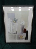 Silver Framed Contemporary Print