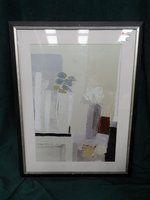 Silver Framed Contemporary Print