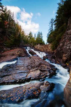 Rugged Falls, Algonquin park by Matthew Booth ~ Ontario Canada* Algonquin Park, Algonquin Camping, The Beautiful Country, Beautiful Places, Nova Scotia, Places To Travel, Places To Visit, Ontario Parks, Quebec