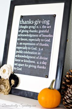 Thanksgiving Defined Free Chalkboard Printable