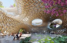 Architecture For Future-Architecture.Urbanism.Interior.Art.Technology — Vincent Callebaut plans wooden orchids complex for China
