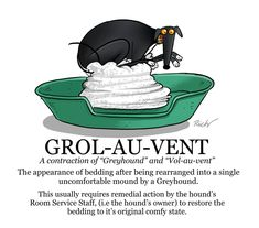 846 likes, 34 comments - Another entry for volume 2 of the Greyhound Glossary. Volume 1 is still available. Dog Jokes, Funny Dog Memes, Funny Dogs, Funny Animals, Greyhound Art, Italian Greyhound, Lévriers Whippet, Puppy Names, Lurcher