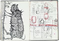 From treasured childhood notebooks to drawing with his daughter, Perry's sketchbooks are the place where the artist learns if an idea is 'a goer or a dud' Artist Journal, Artist Sketchbook, Books Art, Grayson Perry, Drawing Sketches, Drawings, Collage, China Art, Sketchbook Inspiration