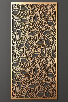 models: Other decorative objects - Decorative partition Decorative Metal Screen, Decorative Panels, Decorative Objects, Wall Panel Design, Partition Design, Door Gate Design, Laser Cut Screens, Laser Cut Panels, 3d Laser Printer
