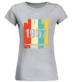 bbce6c4b Retro July 1957 T-Shirt 60 yrs old Bday 60th Birthday Tee