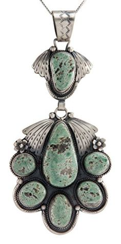 Navajo Native American New Lander Chalcosiderite Pendant Necklace by Martha Willeto * Click image to review more details.