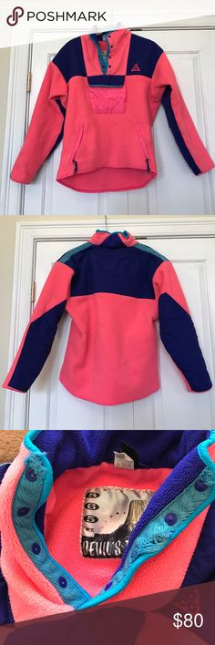 Vintage Nike acg Pink Fleece I bought this second hand for a music festival and skiing. It does have one part in the collar that is fraying but nothing bad. This is super warm. Has some great pockets. Nike Jackets & Coats