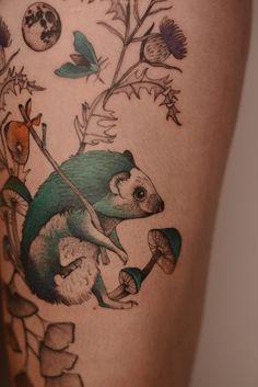 Paul Cezanne, Vincent Van Gogh, Whimsical Tattoos, Art Deco Tattoo, Polish Tattoos, Fairy Tattoo Designs, Botanical Tattoo, Colossal Art, Fauna