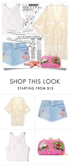 """""""Bez naslova #3035"""" by kristina-bishkup ❤ liked on Polyvore featuring Do Everything In Love, GRLFRND, Hollister Co. and Serpui"""