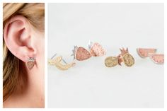 Show off your love for summer and refreshing fruit with a pair of these darling stud earrings! They will be the perfect addition to your favorite t-shirt and jeans.