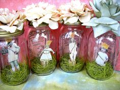 Jar Fairies-cute idea for fairy party favors or packaging for a little girl gift.