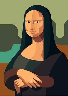 Simplified Mona Lisa_ [Csaba Gyulai (floydworx)] (Gioconda / Mona Lisa)
