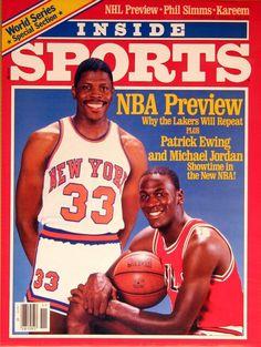 Patrick Ewing (New York Knicks) and Michael Jordan Michael Jordan News, Michael Jordan Basketball, Basketball Legends, Sports Basketball, Basketball Players, Nba Stars, Sports Stars, Georgetown Basketball, New York Knickerbockers