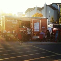 Food trailer in the sunset