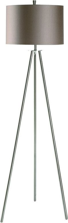 "Sabra Floor Lamp Metal Floor Lamp In Brushed Nickel Finish (15 X 16 X 10.5"" Champagne Fabric Hardback Shade) 3-Way 150W Ma X Wattage Bulb 60"" Ht. Features: - Dimension: 15 X 16 X 10.5 in. - Shipping W"