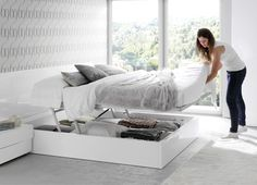 KIBUC, muebles y complementos - Dormitorio Slaap cama elevable.