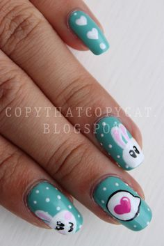 Copy That, Copy Cat: Bunny Love Nails & My Phone Case Bling Project!