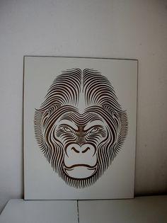 laser engraved gorilla