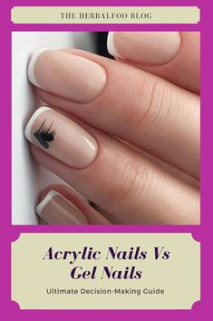 Ultimate Decision-making guide that highlights differences between acrylic nails vs gel nails so that you can choose the best one that suits your requirement. Cute Nail Art, Cute Nails, Easy Nail Art, Fancy Nails, Nail Manicure, Gel Nails, Nail Polish, Acrylic Nails, Stylish Nails