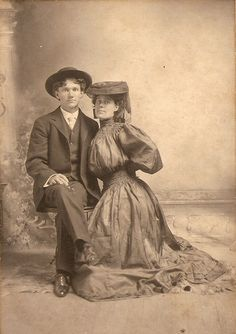 """Rutherford Bruce Moses, son of James Harry Moses & Octavia Simmons; born in 1884; died in 1955. Photo is listed as being his wedding photo to first wife Robie Thompson. He was always called """"Roof."""""""