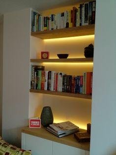 The Lighting Design Studio: back lit shelving