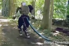 Boston Dynamics' robot goes for unsettling outdoors jog Boston Dynamics, End Time Headlines, Humanoid Robot, Learn To Run, Google S, Employee Engagement, Robotics, Woods, Watch