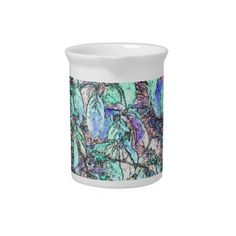 Colored Pencil Tree Leaves Beverage Pitchers