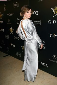 Danneel Ackles, Jensen Ackles, Silk Evening Gown, Long Gowns, Shiny Fabric, Beautiful Wife, Chic Dress, Satin Dresses, Silk Satin