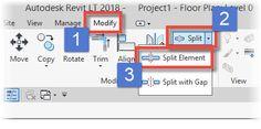 Autodesk Revit: Splitting Elements - http://bimscape.com/autodesk-revit-splitting-elements/