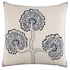 Contemporary Decorative Pillow from John Robshaw Textiles, Model: Hmong Collection