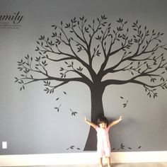 From SimpleShapes on Etsy: Baby Nursery Decals, Family Tree Decals, and Calendars Family Tree Wall Sticker, Family Wall Decor, Nursery Wall Decals, Vinyl Wall Decals, Family Tree Quotes, Inspiration Wand, Tree Decals, Hallway Decorating, Textured Walls