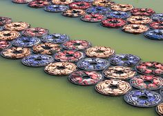 Ai Weiwei creates F Lotus installation from refugee life jackets