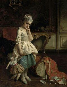 Henry Guillaume Schlesinger (1814-1893) —   Girl Accident broken Doll  (951×1226)