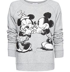 ~ Mickey and Minnie Grey Pullover Sweater ~ Perfect for those cold Disney nights!