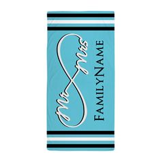 Mr. and Mrs. Infinity Beach Towel