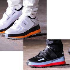 Raf Simons SS15 platform single velcro buckle shoe