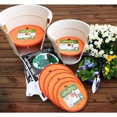 Succulents Discover Bloem 18 in. Ups-A-Daisy Planter - The Home Depot Bloem 18 in. Ups-A-Daisy Planter - The Home Depot Plastic Planter, Plastic Pots, Container Gardening, Gardening Tips, Vegetable Gardening, Bucket Gardening, Garden Compost, Container Plants, Orange