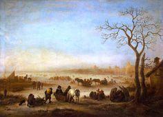 Isaac van Ostade - IJsgezicht (1648)