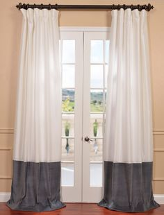 Shop from a huge selection of velvet curtains and drapes for window covering. We offers quality and modern velvet drapes at affordable prices. Cream Curtains, Cotton Curtains, Drapes Curtains, Window Coverings, Window Treatments, Velvet Drapes, Silk Taffeta, Cotton Velvet, Egg Shells
